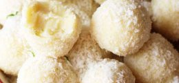 Trufas de chocolate blanco